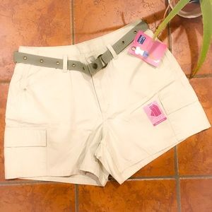 New w/Tags Riders By Lee Military Belted Khakis